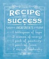 Life Recipes II Blue Fine Art Print