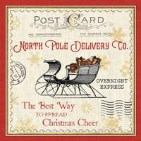 North Pole Express II Framed Print