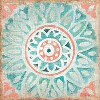 Ocean Tales Tile VII Coral Fine Art Print