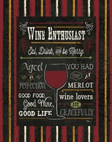 Wine Enthusiast II Fine Art Print