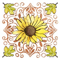 October Garden V Framed Print