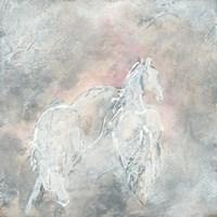 Blush Horses II Framed Print