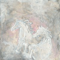 Blush Horses I Framed Print