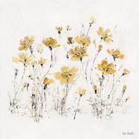 Wildflowers III Yellow Fine Art Print