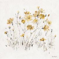 Wildflowers II Yellow Fine Art Print