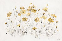 Wildflowers I Yellow Fine Art Print