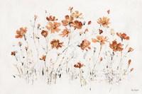 Wildflowers I Orange Fine Art Print