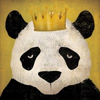 Panda with Crown Framed Print