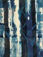 Deep Woods II Indigo Fine Art Print