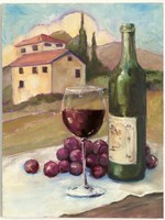 Vino Toscano no Border Framed Print