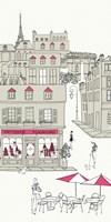 World Cafe V Paris II Pink v.2 Fine Art Print