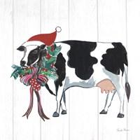 Holiday Farm Animals IV Fine Art Print