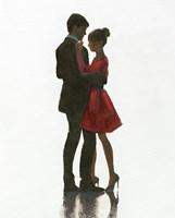 The Embrace II Red Dress Fine Art Print