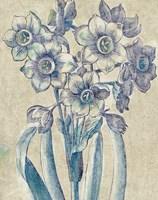 Belle Fleur IV Crop Linen Fine Art Print