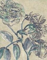 Belle Fleur I Crop Linen Fine Art Print