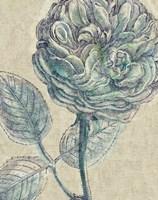 Belle Fleur III Crop Linen Fine Art Print