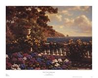 Flower Terrace, Mediterranean Fine Art Print
