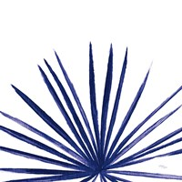 Statement Palms III Indigo Fine Art Print