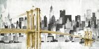 New York Skyline I Yellow Bridge no Words Fine Art Print