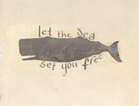Whale Element Words v2 Fine Art Print