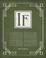 If by Rudyard Kipling - Ornamental Border Green Fine Art Print