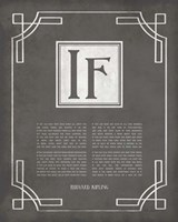 If by Rudyard Kipling - Ornamental Border Gray Fine Art Print