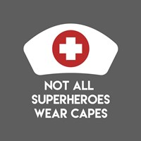 Not All Superheroes Wear Capes - Nurse Gray Framed Print