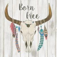 Bohemian Rising I no Border Born Free Fine Art Print