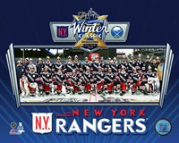 New York Rangers Team Photo 2018 NHL Winter Classic Fine Art Print