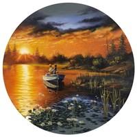Man Bay Fishing Fine Art Print