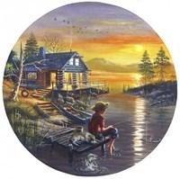 Boy Fishing Fine Art Print