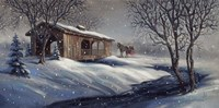Covered Bridge Snow Fine Art Print