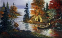 Tent Canoe Fine Art Print