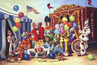 Ten Clowns Fine Art Print