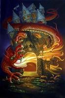 Somebody's At The Door/Dragonslayer Fine Art Print