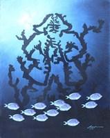 Blue Tangs Fine Art Print