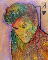 Elvis - King of Hearts Fine Art Print