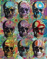 9 Skulls Fine Art Print