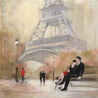 Romantic Paris I Red Jacket Fine Art Print