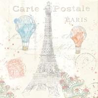 Lighthearted in Paris V Fine Art Print