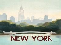 City Skyline New York Horizontal Fine Art Print