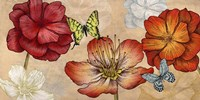 Flowers and Butterflies (Neutral) Fine Art Print
