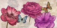 Roses and Butterflies (Neutral) Fine Art Print