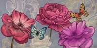 Roses and Butterflies (Ash) Fine Art Print