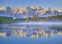 Allgaeu Alps and Hopfensee lake, Bavaria, Germany Fine Art Print