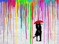 Romance in the Rain Fine Art Print