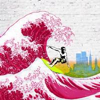 Surfin' NYC (detail) Fine Art Print