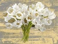 Washed Tulips (Ash & Gold) Fine Art Print