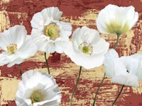 Washed Poppies (Red & Gold) Fine Art Print