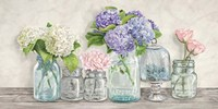 Flowers in Mason Jars Fine Art Print